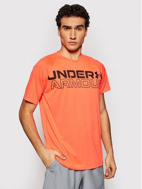 Under Armour Under Armour Тениска от техническо трико Wordmark 1361702 Оранжев Loose Fit
