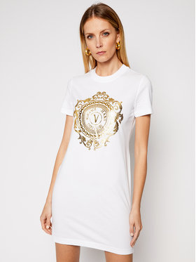Versace Jeans Couture Versace Jeans Couture Hétköznapi ruha D2HWA4FA Fehér Regular Fit