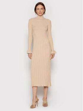 TWINSET TWINSET Úpletové šaty 212TP3023 Béžová Slim Fit