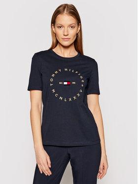 Tommy Hilfiger Tommy Hilfiger T-Shirt Circle C-Nk Tee WW0WW30103 Σκούρο μπλε Regular Fit