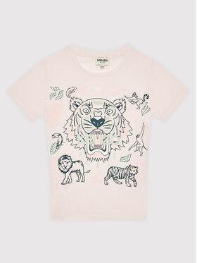 Kenzo Kids Kenzo Kids T-Shirt K15169 Różowy Regular Fit