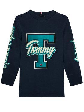 TOMMY HILFIGER TOMMY HILFIGER Bluzka Fun Varsity KB0KB06104 D Granatowy Regular Fit