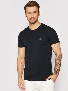Gant Gant T-shirt Contrast Logo 2053004 Crna Regular Fit