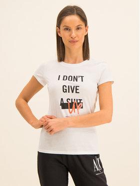 Armani Exchange Armani Exchange T-Shirt 3HYTEJ YJ16Z 1000 Biały Slim Fit