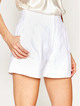 MICHAEL Michael Kors MICHAEL Michael Kors Шорти от плат Pleated Linen MS03HC8A19 Бял Relaxed Fit