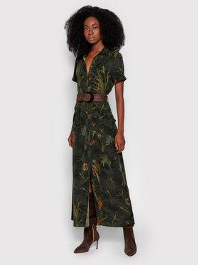Desigual Desigual Sukienka codzienna Amsterdam 21WWVN02 Zielony Regular Fit