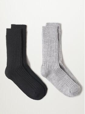 Mango Mango 2 pár hosszú szárú női zokni Judith r. OS 17093776 Fekete