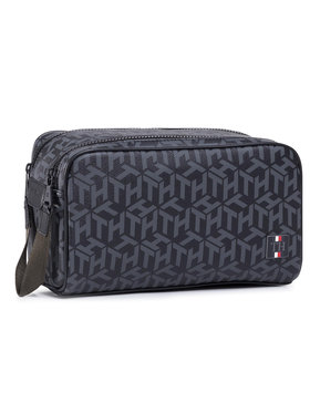 Tommy Hilfiger Tommy Hilfiger Несесер Coated Canvas Washbag AM0AM06514 Черен