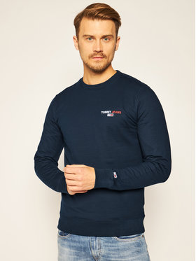 Tommy Jeans Tommy Jeans Bluza Chest Graphic DM0DM08729 Granatowy Regular Fit
