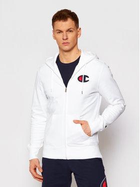 Champion Champion Sweatshirt Satin C Logo 214185 Weiß Comfort Fit