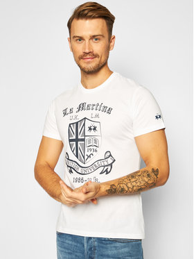 La Martina La Martina T-shirt QMR016 JS206 Bianco Regular Fit
