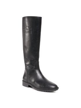 Coach Coach Kozačky ve vojenském stylu Fynn Leather Boot G5481 Černá