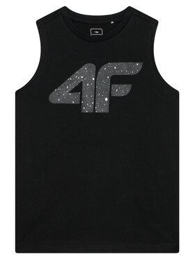 4F 4F Top HJL21-JTSM011B Czarny Relaxed Fit