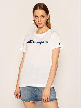 Champion Champion T-shirt Script Logo 110992 Blanc Heritage Fit