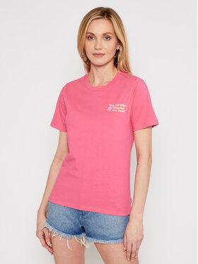 Converse Converse T-Shirt Exploration Team 10022260-A03 Różowy Standard Fit