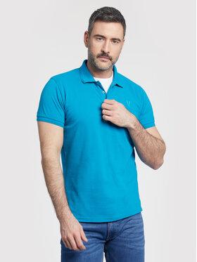 Vistula Vistula Тениска с яка и копчета Mike XA1273 Син Regular Fit