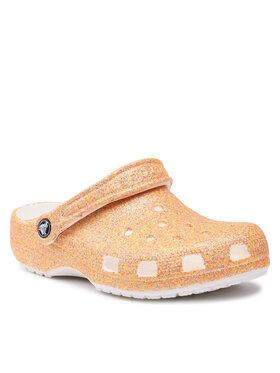 Crocs Crocs Шльопанці Classic Glitter Clog 205942 Оранжевий
