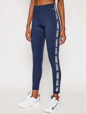 Tommy Jeans Tommy Jeans Leggings Tape DW0DW10139 Tamnoplava Skinny Fit
