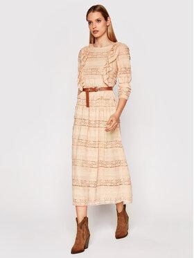 Rinascimento Rinascimento Sukienka codzienna CFC0102173003 Beżowy Regular Fit