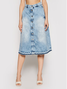 Liu Jo Liu Jo Džinsinis sijonas UA1125 D4343 Mėlyna Regular Fit