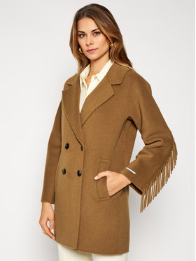 Marella Marella Manteau en laine Colour 30860106 Marron Regular Fit
