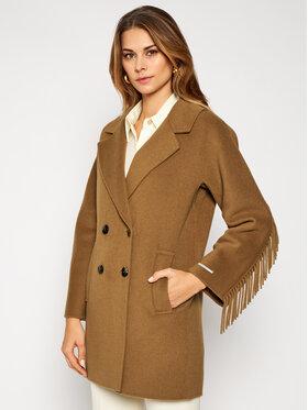 Marella Marella Wollmantel Colour 30860106 Braun Regular Fit