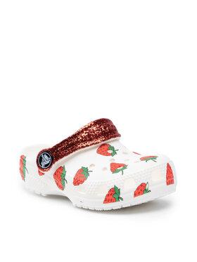 Crocs Crocs Чехли Classic Food Print Clog K 207150 Бял