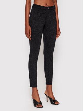 Guess Guess Текстилни панталони Sexy Curve W1YAJ3 KAQA2 Черен Skinny Fit