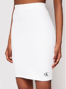 Calvin Klein Jeans Calvin Klein Jeans Spódnica ołówkowa J20J215715 Biały Slim Fit