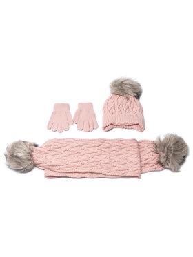 Mayoral Mayoral Комплект шапка, шал и ръкавици 10701 Розов