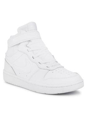 NIKE NIKE Обувки Court Borough Mid 2 (PSV) CD7783 100 Бял