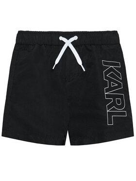 KARL LAGERFELD KARL LAGERFELD Szorty kąpielowe Z20055 S Czarny Regular Fit