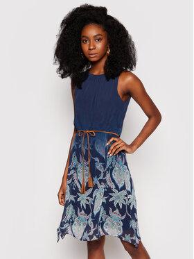 Desigual Desigual Sukienka letnia Jane 21SWVWAY Granatowy Regular Fit