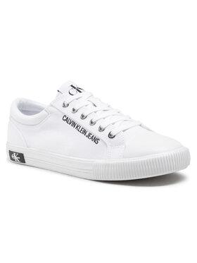 Calvin Klein Jeans Calvin Klein Jeans Plátěnky Vulcanized Sneaker Laceup Co YM0YM00014 Bílá