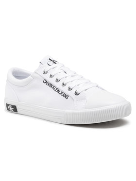 Calvin Klein Jeans Calvin Klein Jeans Sneakers Vulcanized Sneaker Laceup Co YM0YM00014 Blanc