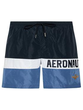 Aeronautica Militare Aeronautica Militare Plavecké šortky 211BW198CT1537 Tmavomodrá Regular Fit