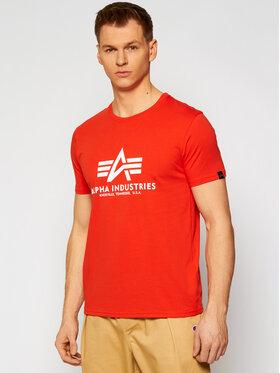 Alpha Industries Alpha Industries Marškinėliai Basic 100501 Raudona Regular Fit