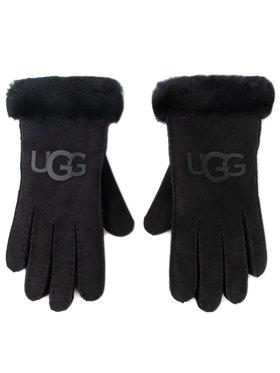Ugg Ugg Дамски ръкавици W Sheepskin Logo Glove 18691 Черен