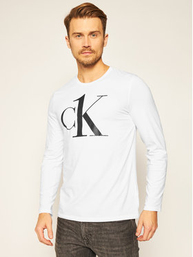 Calvin Klein Underwear Calvin Klein Underwear Marškinėliai ilgomis rankovėmis Crew 000NM2017E Balta Regular Fit