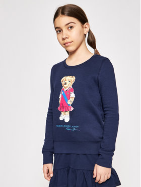 Polo Ralph Lauren Polo Ralph Lauren Džemperis Bear Fleece 313837228001 Tamsiai mėlyna Regular Fit