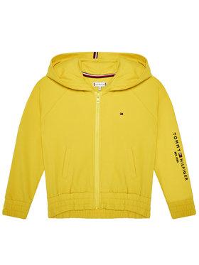 TOMMY HILFIGER TOMMY HILFIGER Μπλούζα Essential Zip Trough KG0KG05491 M Κίτρινο Regular Fit