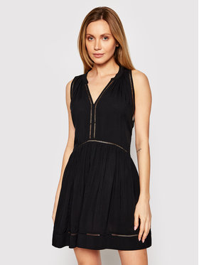 Seafolly Seafolly Vestito estivo Ladder Detail 52931-DR Nero Relaxed Fit