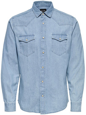 Only & Sons ONLY & SONS Риза Leno Western 22020185 Тъмносин Slim Fit