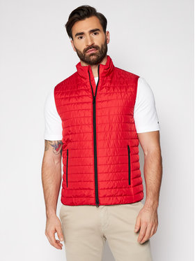 Geox Geox Gilet Wilmer M1223G T2606 F7115 Rosso Regular Fit