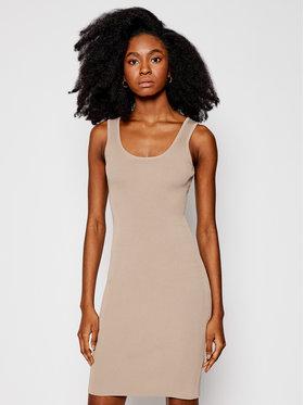 Guess Guess Každodenní šaty W1GK85 Z2U00 Béžová Slim Fit