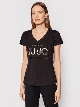 Liu Jo Sport Liu Jo Sport T-Shirt TF1256 J5972 Černá Regular Fit