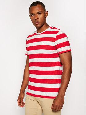 Tommy Jeans Tommy Jeans Tricou Tjm Heather Stripe Tee DM0DM06542 Roșu Regular Fit