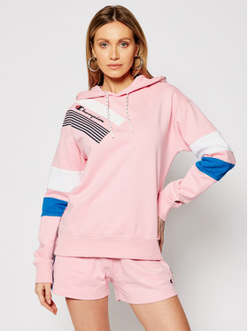 Champion Champion Felpa Graphic 112758 Rosa Custom Fit