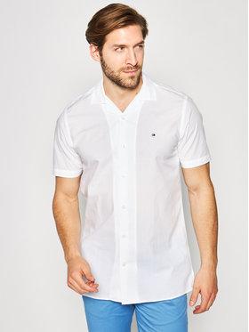 Tommy Hilfiger Tommy Hilfiger Hemd Solid Hawaiian MW0MW13455 Weiß Regular Fit