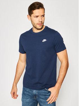 Nike Nike Marškinėliai Nsw Club AR4997 Tamsiai mėlyna Standard Fit